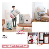 Laundry & Toy Bag Keranjang Lipat Penyimpanan Pakaian Mainan Quilt Bag