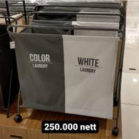 Keranjang Baju Kotor | Keranjang / Troli Laundry Cucian Color & White