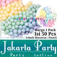 Balon Latex Macaron 5inch 1 Pack Isi 50 Pcs / Balon Pastel Per Pack