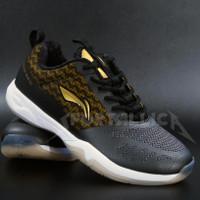 Sepatu Badminton Li-Ning / LiNing AYTQ057 Cloud Ace G7 Black Gold - 40
