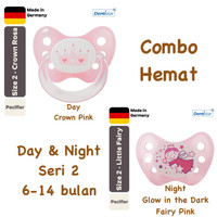 Dentistar Orthodontic Pacifier Day & Night for baby 6-14 months Empeng - Crown 1