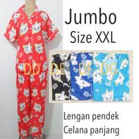 piyama baju tidur dewasa wanita jumbo karakter pajamas katun murah
