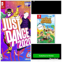 just dance 2020 + animal crossing game digital nintendo switch