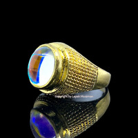 Cincin Pria Batu Permata Kalimaya India Gold Model Tanam
