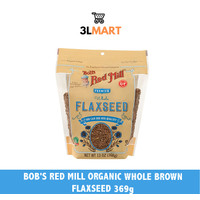 BOB'S RED MILL ORGANIC WHOLE BROWN FLAXSEED 369GR