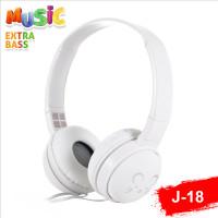 Headphone macaron j18 cartoon extra bass - Putih