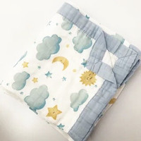 Parish Rika 4 Layer Muslin Blanket / SELIMUT BAYI - Cloud