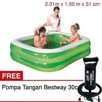 Kolam Bestway 200cm Hijau 5840 Free Pompa / Mainan Anak Kolam Renang