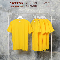 Kaos polos pria, wanita size normal big size jumbo size Kuning kenari