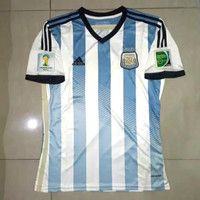 JERSEY BOLA RETRO ARGENTINA FINAL PIALA DUNIA 2014 IMPORT AUTHENTIC - S