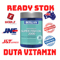 bioglan odourless super fish oil 2000mg omega 3/ 200 soft