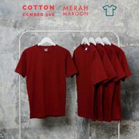 Kaos polos pria, wanita size normal big size jumbo size Merah maroon
