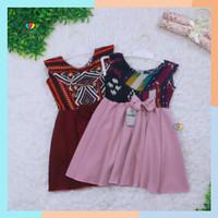 Dress Batik Bayi - 2 Tahun Model Dres Baju Anak Perempuan Pesta Cewek