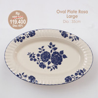 PERO OVAL PLATE ROSSA LARGE