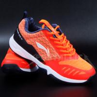 Sepatu Badminton Li-Ning / LiNing AYTQ057 Cloud Ace G7 Orange Navy - 42