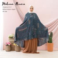 Mukena Dewasa Ponco Dagu Resleting Katun Rayon Premium Bali