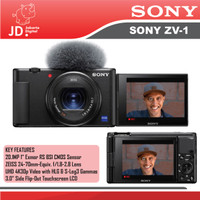 SONY ZV-1 Digital Compact Camera / Sony ZV1 Vlog 4K Video - ZV-1
