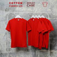 Kaos polos pria, wanita size normal big size jumbo size Merah Cabe