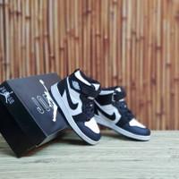 Sepatu Anak Nike Air Jordan Hi Black White Import Grade Original