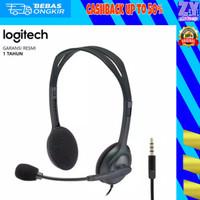 Headphone Earphone Headset Gaming Logitech H111 Stereo Single Jack