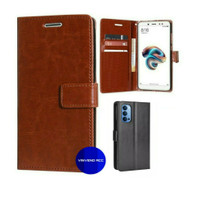 Flip Wallet Leather Case Cover Casing Dompet Kulit Oppo Reno 4