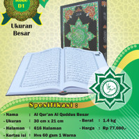 Quran Ayat Pojok Quran BESAR al Quddus Rosm Utsmani Al Quran BESAR
