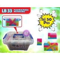 Mainan Puzzle Blocks Container isi 50 pcs No. LB33