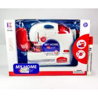 Mainan Anak Perempuan Sewing Machine Mesin Jahit merah My Home