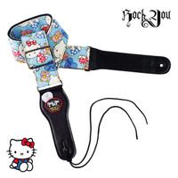 Strap Gitar Hello Kitty BONUS Pick Tali Sabuk Guitar Rock You S-609