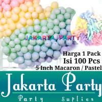 Balon Latex Macaron 5inch 1 Pack Isi 100 Pcs / Balon Pastel Per Pack