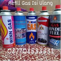 tabung gas kaleng portable REFILL