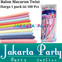 Balon Twist Pastel 1 Pack Isi 100 Pcs / Balon Per Pack / Balon Cacing