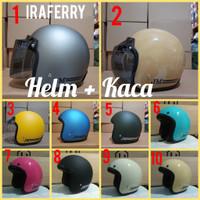 Helm bogo murah dewasa SNI merek JM helm sama kaca