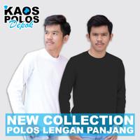 Kaos Polos Panjang Bahan Asli Cotton Combed 30s Size S M L XL Bandung - Putih, S