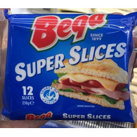 BEGA CHEESE SUPER SLICES 250 GR 12 SLICES IMPORT AUSTRALIA
