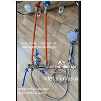 Aksesoris water heater instalasi instan/ tanpa bobok Paket 4