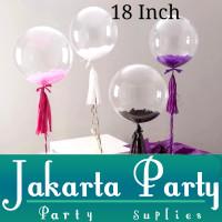 Balon PVC 18 Inch / Balon Transparan PVC / Balon Transparant JUMBO