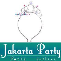 Bando Tiara Silver Kecil / Tiara Crown / Headband Tiara Silver