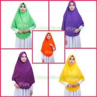 Jilbab/Hijab/Kerudung Dewasa XL Khimar Daily Curly polos Usia Dewasa