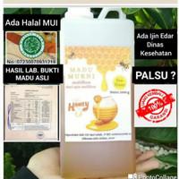 Madu Asli / Raw Honey 1000 Gram Perasan Madu Sarang Melifera