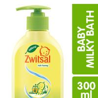 Zwitsal Baby Milky Bath Rich Honey Natural 300ml Pump Sabun Bayi