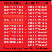 Kartu Perdana Nomor Cantik No Telkomsel XL Indosat Simpati AS AXIS