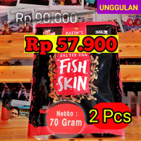 2x 70gr RAFINS FISH SKIN SALTED EGG rafin's irvins keripik kulit ikan
