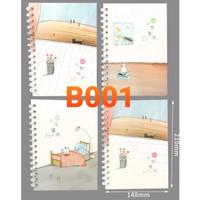 Buku Tulis Model Ring Cover Lucu B001