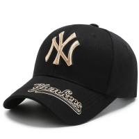 NEXTSTOP-057 Topi Baseball NY Cap Casual Sport Pria Wanita - Black gold