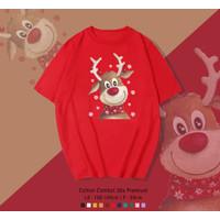 RUSA CHRISTMAS T-Shirt / KAOS UK OVERSIZE FIT TO XL UNISEX NATAL