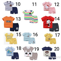 setelan baju anak import set kaos