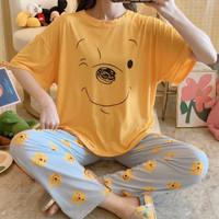 Baju Tidur Import - Piyama Set Import Model Korea Lengan Pendek - Pooh