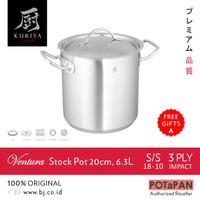 PANCI Kuriya Japan Ventura Stock Pot 20cm 6.3L SS18-10 SUS 304 [JAPAN]