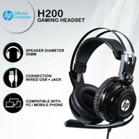 Gaming Headset HP H200 PC Mobile Wired Usb Single Jack H-200